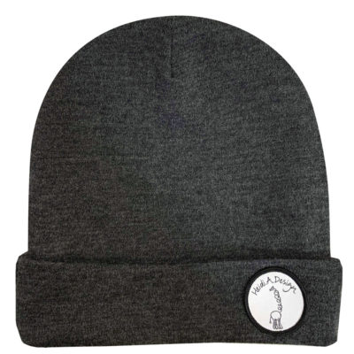 Dark grey wool beanie