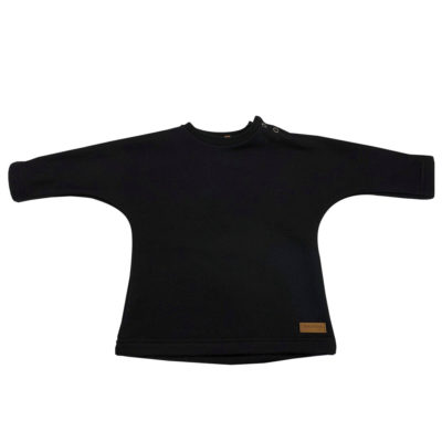 black jersey sweater