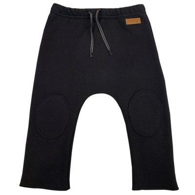 black cotton jersey pants