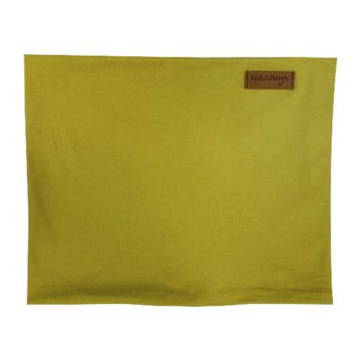 Dirty yellow tube scarf