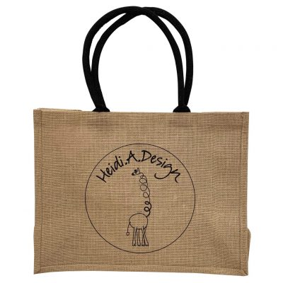 Jute shopper logo back