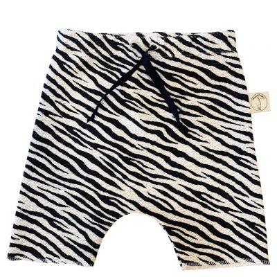 Zebra linen shorts