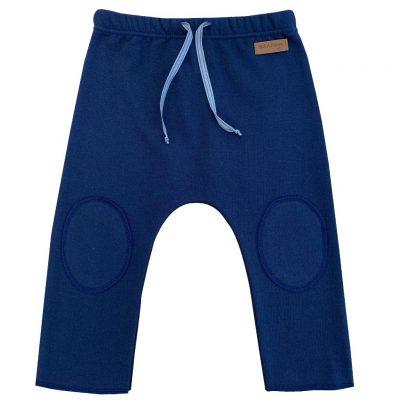 Dark blue cotton jersey pants