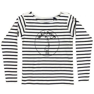 Long sleeved t-shirt blue and white striped