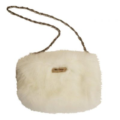 faux fur bag, fluffy