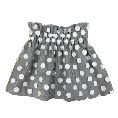 Gray skirt with white dots