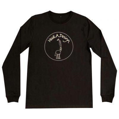 Black long sleeved t-shirt adult