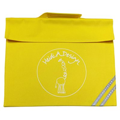 Classic book bag, yellow