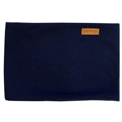 Dark blue tube scarf