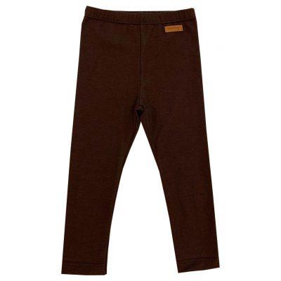 Dark brown jersey leggings
