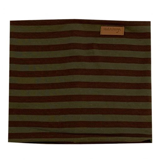 Army green: brown tube scarf
