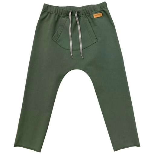 Army green pants with a pocket