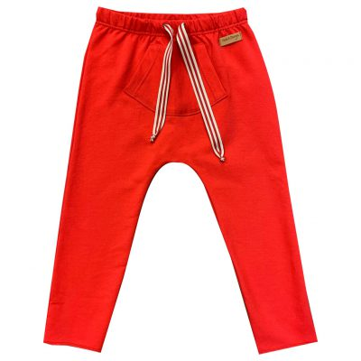 Red pants with a pocket
