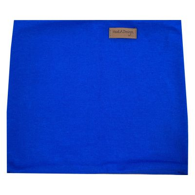 Royal blue tube scarf