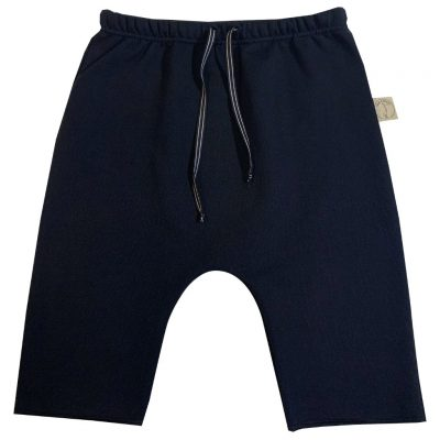 Black cotton jersey shorts