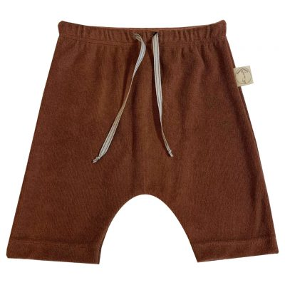 Brown terry shorts