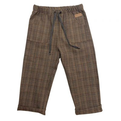 Little brown tartan pants with pockets