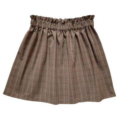 Brown tartan skirt women